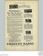 1925 PAPER AD Crosley Radio Super - Trirdyn Special Improved 3 Tube Cincinnati
