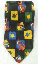 Disney Winnie the Pooh Tigger Oak Leaves Honey Pot 100% silk neck tie