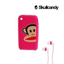 Skullcandy Paul Frank antidisturbios para niños Niños Niñas auriculares + iPhone 3GS Case Rosa