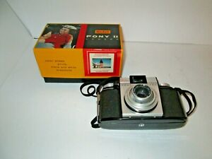 Older Kodak Pony II 35mm Camera with Original Box & Manual