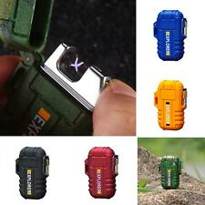 New Electric Lighter Dual Arc Cigarettes  Rechargeable Windproof Flameless