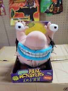 """1995 Nickelodeon AAAHH Real Monsters KRUMM plush - Case Fresh 12"""""""