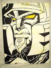 Canvas Painting Transformers Cybertron Megatron Sneer Art 16x12 inch Acrylic