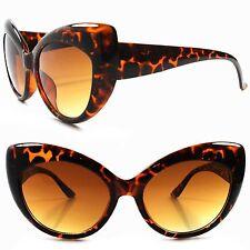 Celebrity Fashion Stylish Tortoise Womens Designer Inspired Cat Eye Sunglasses