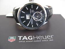 TAG HEUR GRAND CARRERA CALIBRE 18 GMT LEATHER STRAP WATCH BOX AND PAPERS