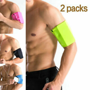 Cycling Running Jogging Gym Exercise Armband Holder For Various Phones 2 Packs