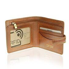 Visconti TSC41 Mens RFID Secure Blocking Leather Bifold Wallet ID  Holder Tan