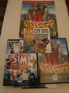 SimCity bundle inc Official Strategy guide Sims Deluxe Edition PC game SimCity 4