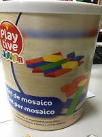 Set da mosaico, gioco bambini blocchetti in legno colorati 2-6 anni giocattoli