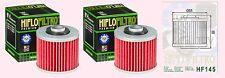 2x HF145 Oil Filter for Yamaha XV  XV750 Virago 1992-99 & XV1100 Virago  1989-00