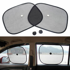 2x Kids Baby Children Car Window UV Protection Mesh Sun Blind Shades Black Cover