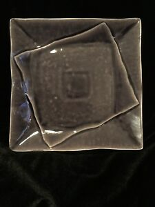 BRAND NEW SQUARE DINNER PLATE PURPLE AMYTHYST STONEWARE 10.5 ANTHONY JOSEPHETHOS