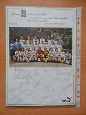 Borussia Mönchengladbach  1984/85 komplette Autogramme RARITÄT  ORIGINAL !!!
