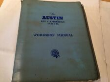 Austin A55 Cambridge Mark 11 Workshop Manual also Morris Oxford series 5/6