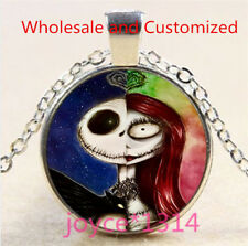 Nightmare Before Christmas Cabochon silver Glass Chain Pendant Necklace #5093