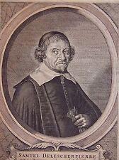 SPECHT HERMAN (17 eme): Portrait de SAMUEL DELESCHERPIERRE dit La riuiere.17 eme