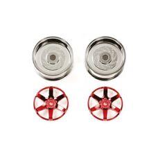 Tamiya 54551 Red Plated 2pc 6-Spoke Wheels 26mm Offset +2