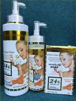Gluta & kojic white nutri glow 24k gold Set lotion, serum, soap Set