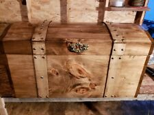 HANDCRAFTED CURVED TOP  TREASURE CHEST,HOPE CHEST, TRUNK, BLANKET BOX