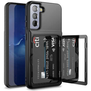 For Samsung Galaxy S20 S21 Plus Note 20 Ultra Shockproof Card Holder Wallet Case