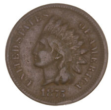 Raw 1875 Indian Head 1C Ungraded Uncertified US Small Cent Penny Coin