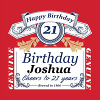 4 PERSONALISED BUDWEISER BEER BOTTLE LABELS - PARTY / BIRTHDAY / WEDDING OCASION