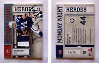 Dallas Clark Signed 2009 Donruss Classics #15 Jersey Card Indianapolis Colts