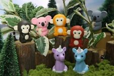 Iwako Japanese Erasers, Jungle Animals, 7 Piece Kid Toy Made in Japan Stationery