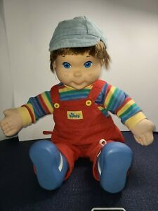 VINTAGE 1985 HASBRO MY BUDDY BOY DOLL WITH BROWN HAIR/Blue Eyes, CLOTHES & Hat