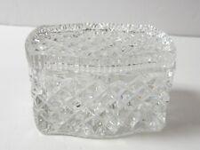 New Listing Glass Diamond Pattern Rectangular Lidded Trinket Box Heavy