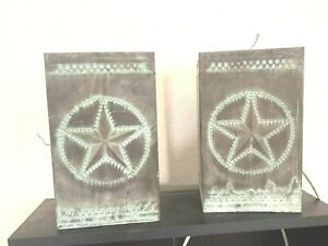 Texas Lone Star Copper Outdoor Lighting Set For Home Garden Porch Decoration