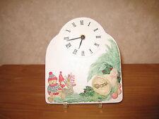 *NEW* Horloge en grès décoré 20x17cm