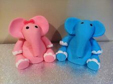 1 Edible Large Big Elephant Jungle Safari Cake Decorations Toppers Pink Or Blue