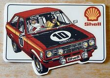 Shell FORD Escort Mk2 rouge no 10 RALLYE Motorsport sticker / Autocollant