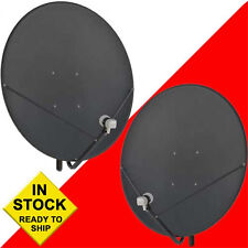 Two (2) 36 Inch 90 cm Free To Air FTA Satellite Dishes & 2 Free HD PLL LNBFs