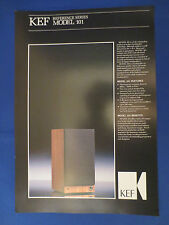 KEF REFERENCE 101 SPEAKER SALES BROCHURE ORIGINAL VERY GOOD CONDITION