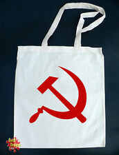 La hoz y martillo comunista Algodón Tote Bolsa Shopper