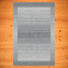 Teppich Modern sehr beliebt Farbe Grau Silber meliert Wohnzimmerteppich Flur