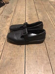 Hotter Comfort Concept 'Sunset' black leather shoes, size 5.5 / Eu 38.5 STD. New