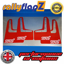 RallyflapZ SUBARU WRX/STI 2014-16 PARAFANGHI kit su misura + raccordi Rosso plantare STI Bianco 4 mm PVC