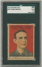 CLARK GRIFFITH 1915 Cracker Jack E145-2 #167 SGC 20 1.5 WASHINGTON SENATORS HOF