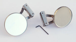 Pair of Austin / BMC Classic Mini Stainless Steel Clamp-On Overtaking Mirror