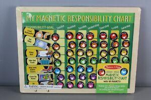 "Melissa & Doug Magnetic Responsibility Chart 90 Magnets 11.75"" x 15.75""  [GS Q]"