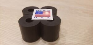 "RUBBER SPACER HIGH GRADE 1"" THK X 1 OD X 3/8"" ID (4 PC PACK) MADE IN AMERICA"