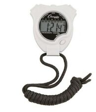 New Champion All Sports Walking Running Stopwatch Timer Daily Alarm White