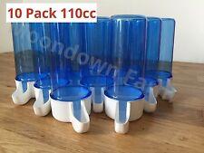 10 x Blue 110cc Cage Feeder / Water Drinker Anti Algae For Canary, Finch, Budgie