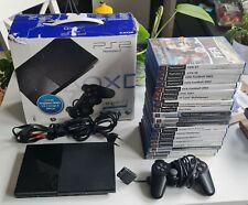 Playstation 2 Slim Konsole mit Schachtel und 20 Spiele Ps2 Konvolut Set
