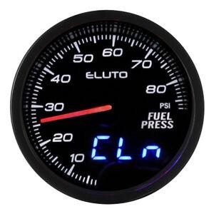 "Universal 2"" 52mm Fuel Pressure Gauge Oil Press Meter Sensor 10 Color Displa"