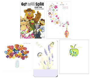 GET WELL SOON Greetings Cards~Kids Adults~Cute & Quirky~FREE Fast Dispatch