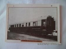 CARTE FICHE TRAIN VOITURE SALON DU SUD EXPRESS 1926